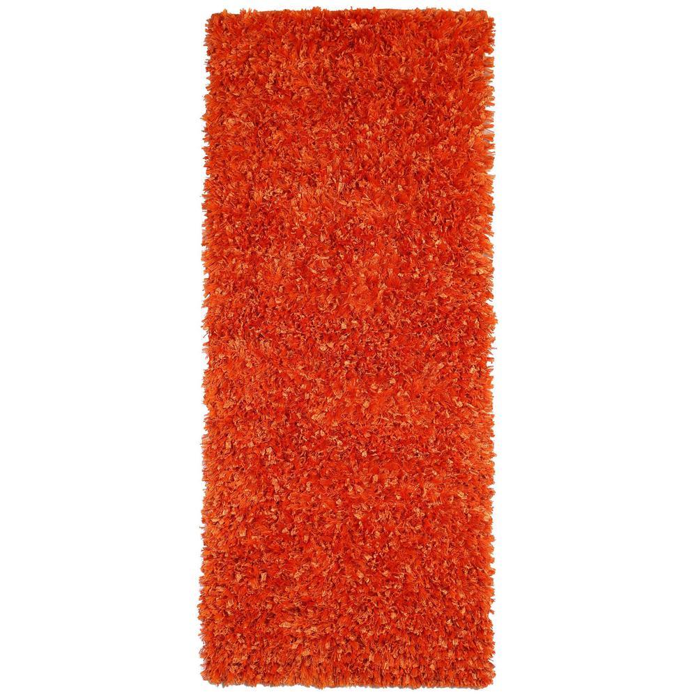 Orange Shag 2 ft. x 5 ft. Runner Rug