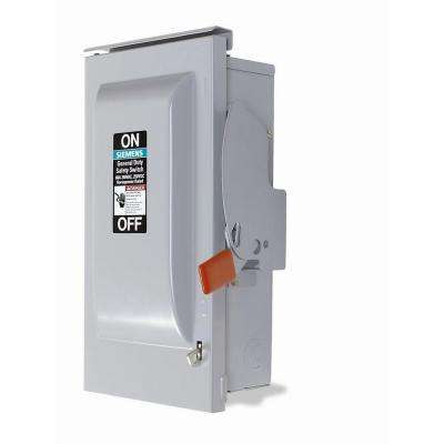 General Duty 60 Amp Outdoor Fusible 3-Phase Safety Switch