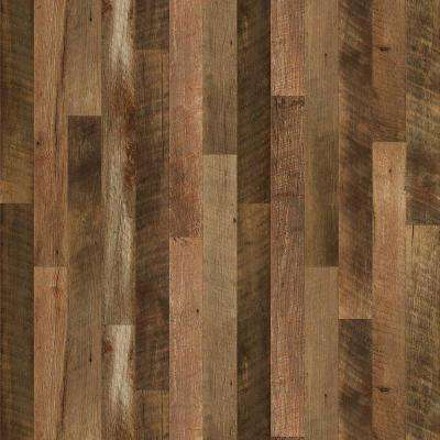 8 in. x 10 in. Laminate Sheet in Remade Oak Planked with Virtual Design SoftGrain Finish