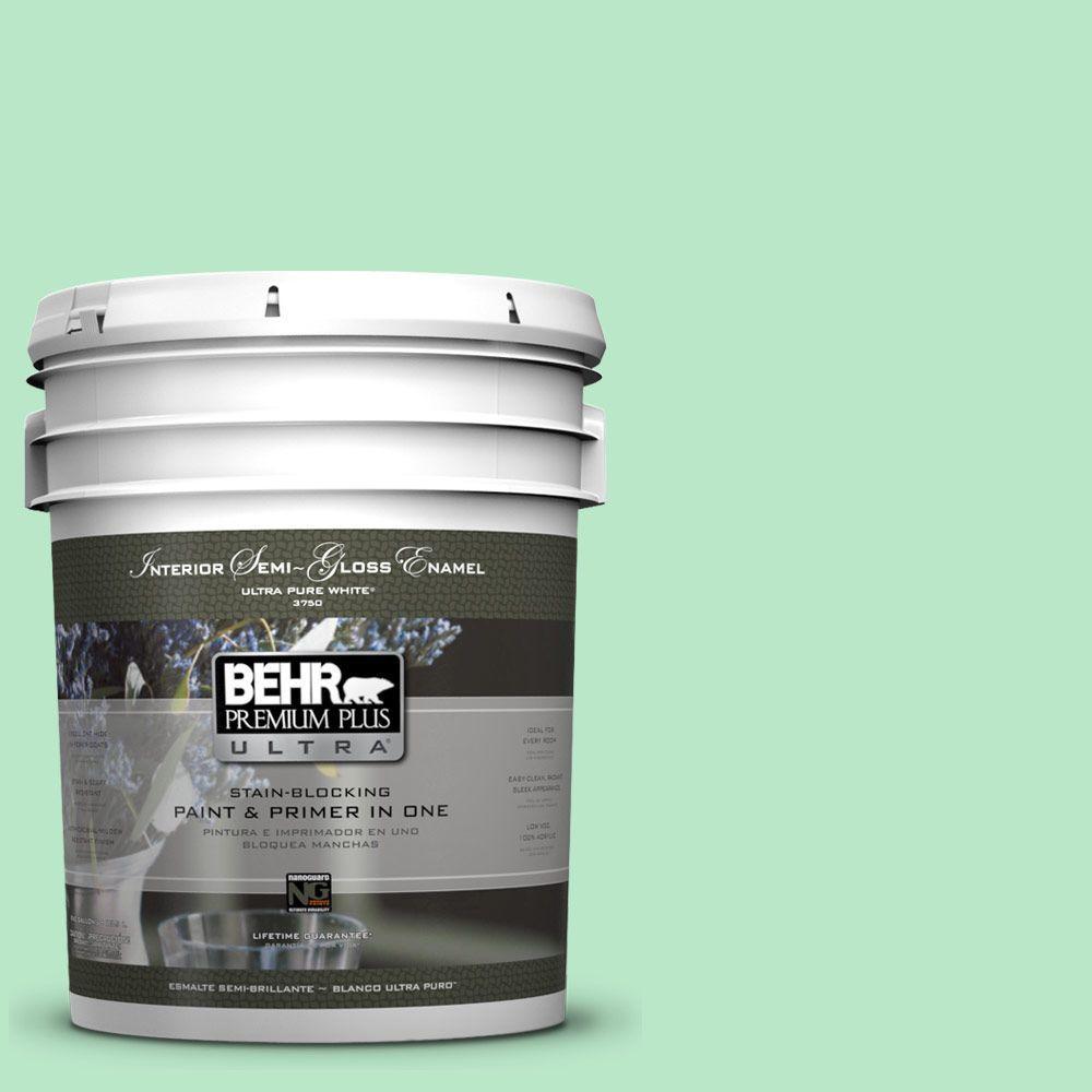 5-gal. #460A-3 Canton Jade Semi-Gloss Enamel Interior Paint