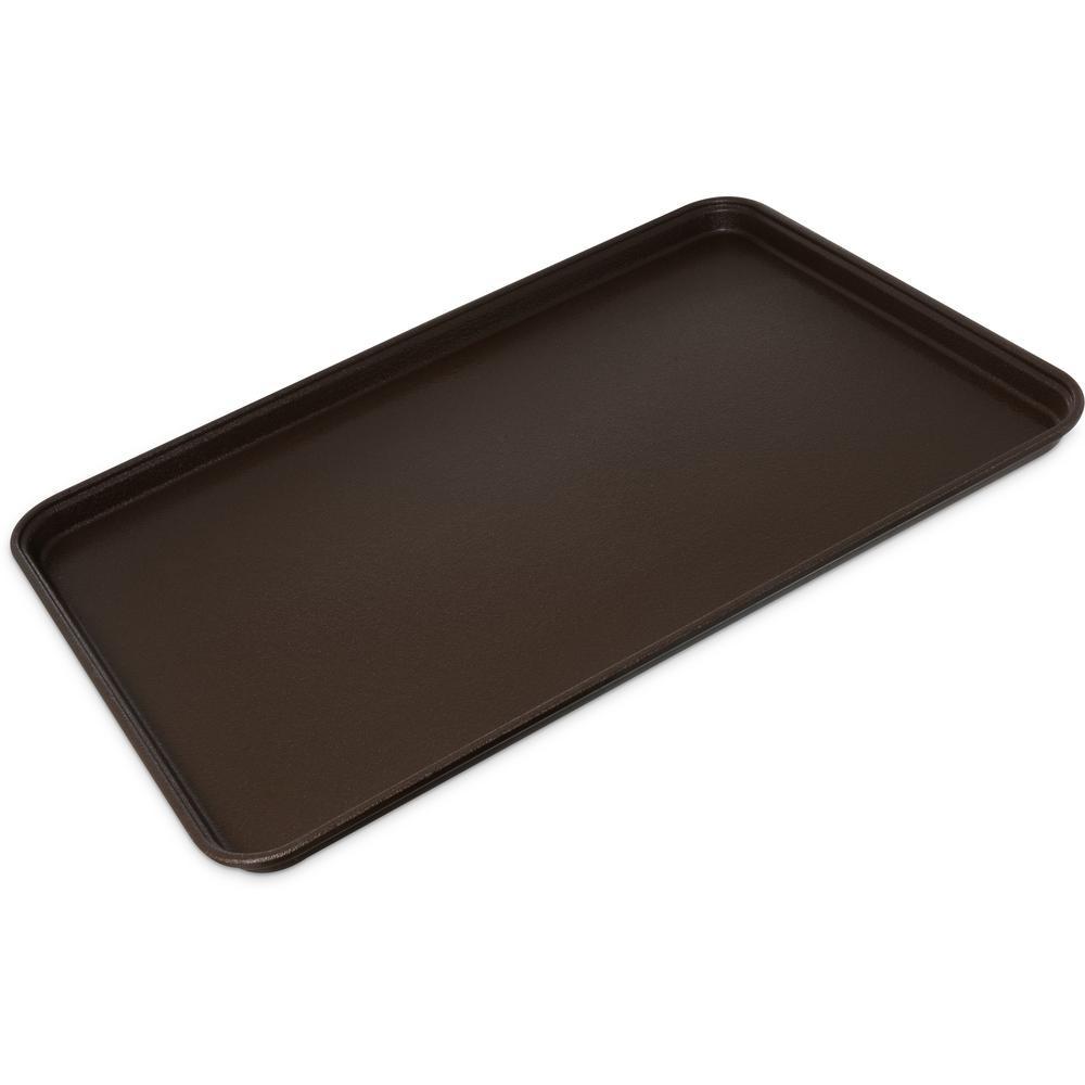 Griptite2 26 in. x 18 in. Brown Fiberglass/Steel Rectangle Serving Tray (6-Pack)