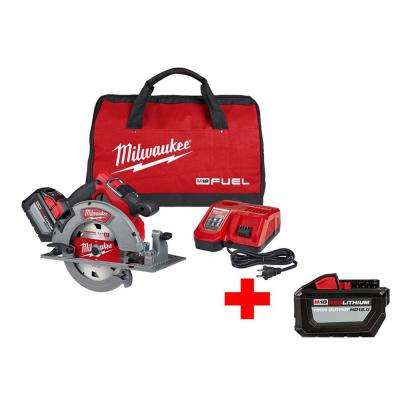 M18 FUEL 18-Volt Lithium-Ion Brushless Cordless 7-1/4 in. Circular Saw Kit W/ Free High Output 12.0Ah Battery