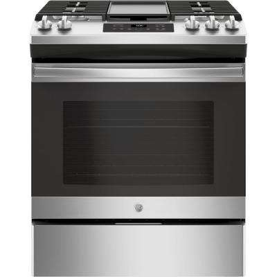 5.0 cu. ft. Slide-In Gas Range with Steam Clean Oven in Stainless Steel