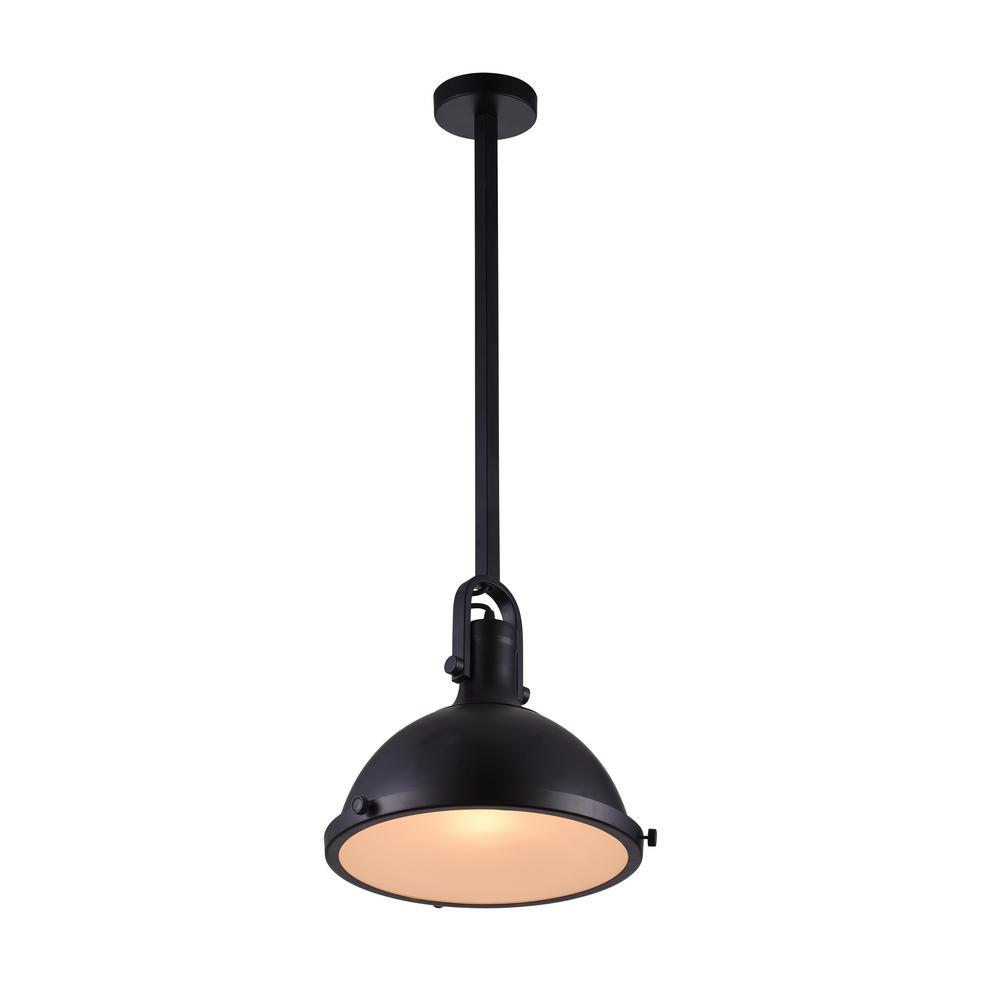 CWI Lighting Strum 1-Light Black Pendant