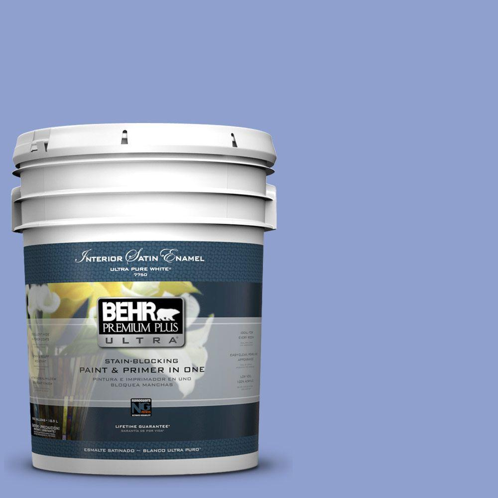 BEHR Premium Plus Ultra 5 gal. #600B-4 Pageant Song Satin Enamel Interior Paint and Primer in One