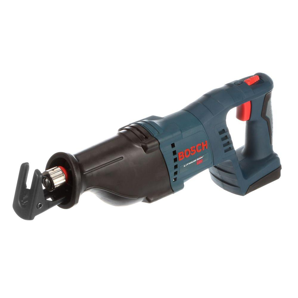 Bosch 18 Volt Lithium-Ion Cordless Electric Power Reciprocating Saw with L-BOXX-3 Hard Case and Inlay (Tool-Only)