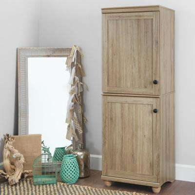 Hopedale Rustic Oak 2-Door Narrow Storage Cabinet