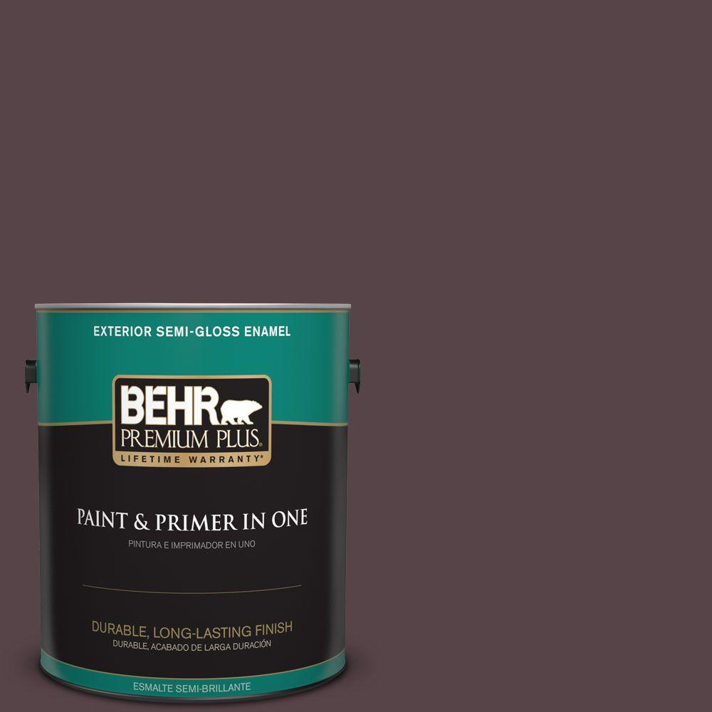 1 gal. #HDC-FL14-9 Black Raspberry Semi-Gloss Enamel Exterior Paint