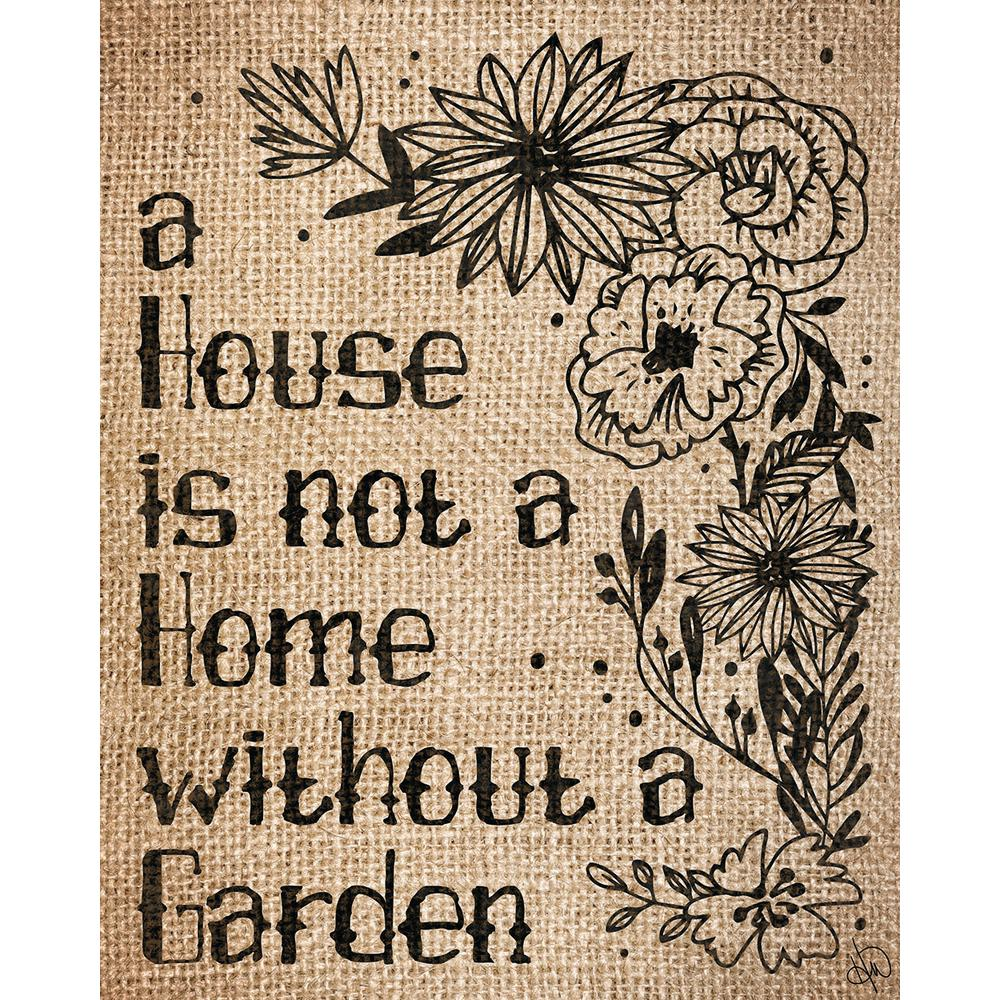 "11 in. x 14 in. ""Home With A Garden Burlap"" Wrapped"