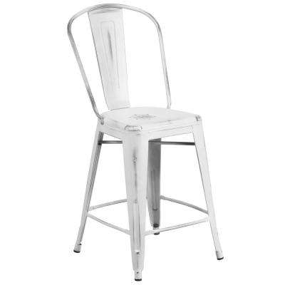 White Bar Stools Kitchen Dining Room Furniture The Home Depot
