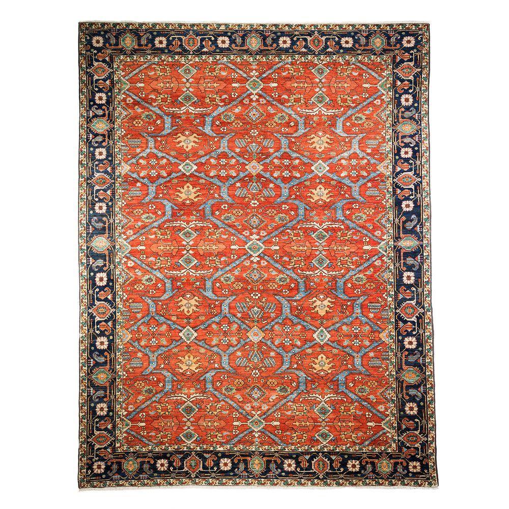 darya rugs ziegler rust 9 ft 3 in x 12 ft 2 in indoor. Black Bedroom Furniture Sets. Home Design Ideas