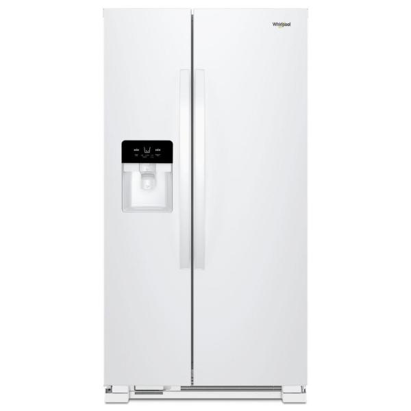 21 cu. ft. Side by Side Refrigerator in White
