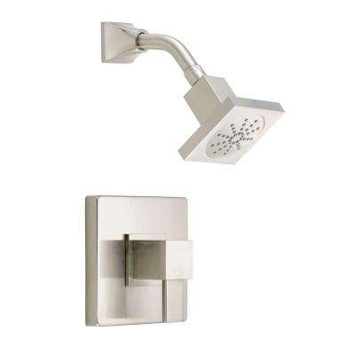 Reef Single-Handle Pressure Balance Shower Faucet Trim Kit in Brushed Nickel (Valve Not Included)