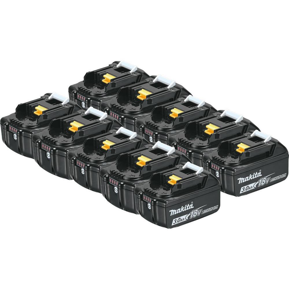 18-Volt LXT 3.0 Ah Lithium-Ion Battery (10-Pack)
