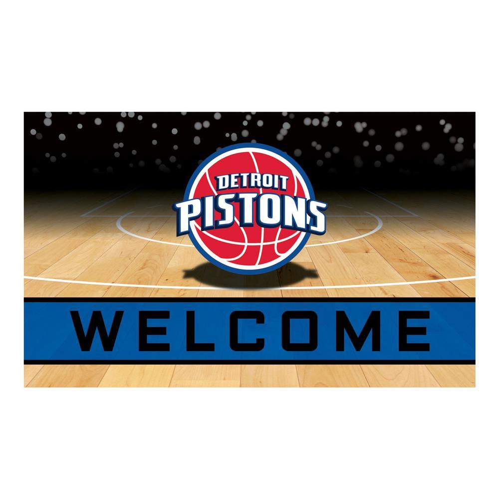 NBA - Detroit Pistons 18 in. x 30 in. Rubber Door Mat