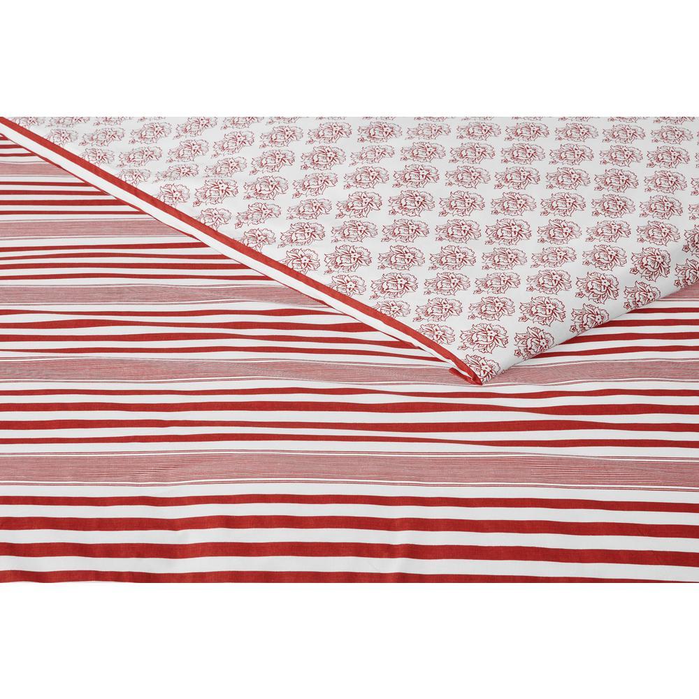 Malcolm 3-Piece Chilli Stripe Duvet Cover Set
