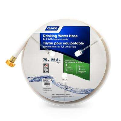 TastePURE 75 ft., Drinking Water Hose, 5/8 in. ID, White