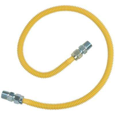 1/2 in. MIP x 1/2 in. MIP x 36 in. ProCoat Gas Appliance Connector 1/2 in. O.D. (71,1000 BTU)