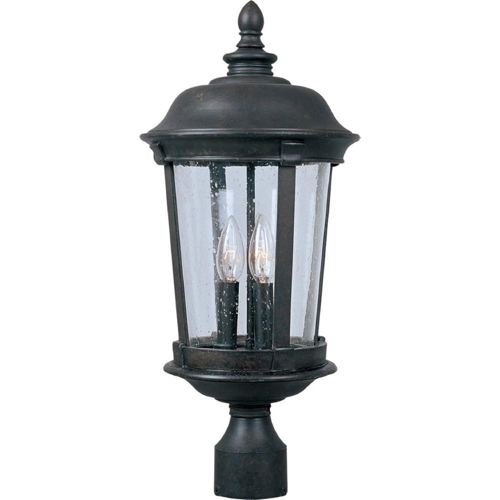 Maxim Lighting Dover DC 3-Light Bronze Outdoor Pole/Post Mount
