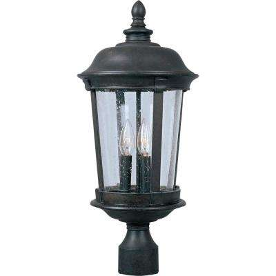Dover DC 3-Light Bronze Outdoor Pole/Post Mount