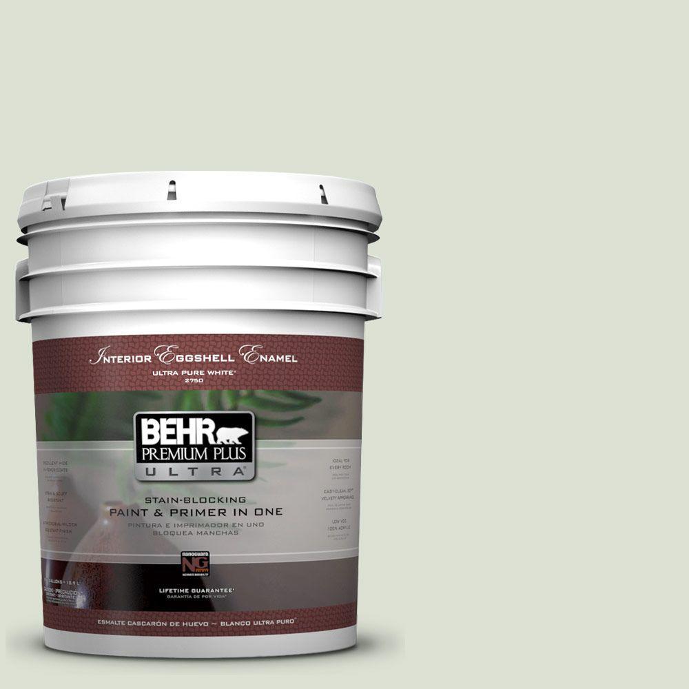 BEHR Premium Plus Ultra 5 gal. #430E-2 Mystical Sea Eggshell Enamel Interior Paint and Primer in One