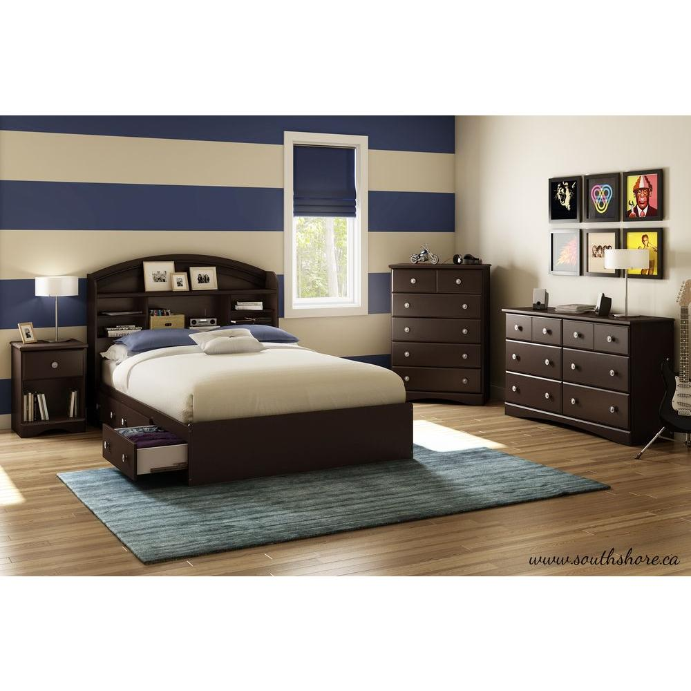 South Shore Morning Dew 6-Drawer Chocolate (Brown) Dresser