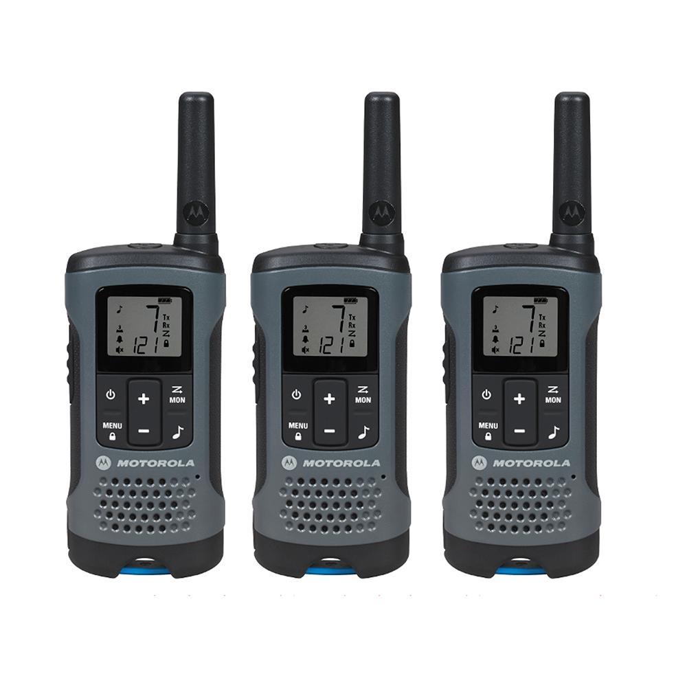 Motorola Motorola Talkabout T200TP Rechargeable 2-Way Radio, Gray (3-Pack)
