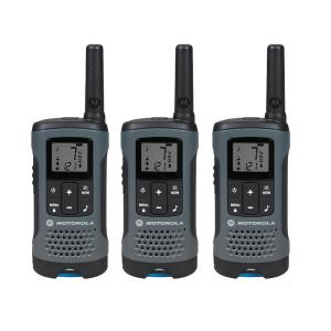 Motorola Talkabout T200TP Rechargeable 2-Way Radio, Gray (3-Pack) by Motorola