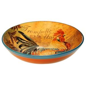Rustic Rooster Pasta and Salad Serving Bowl by