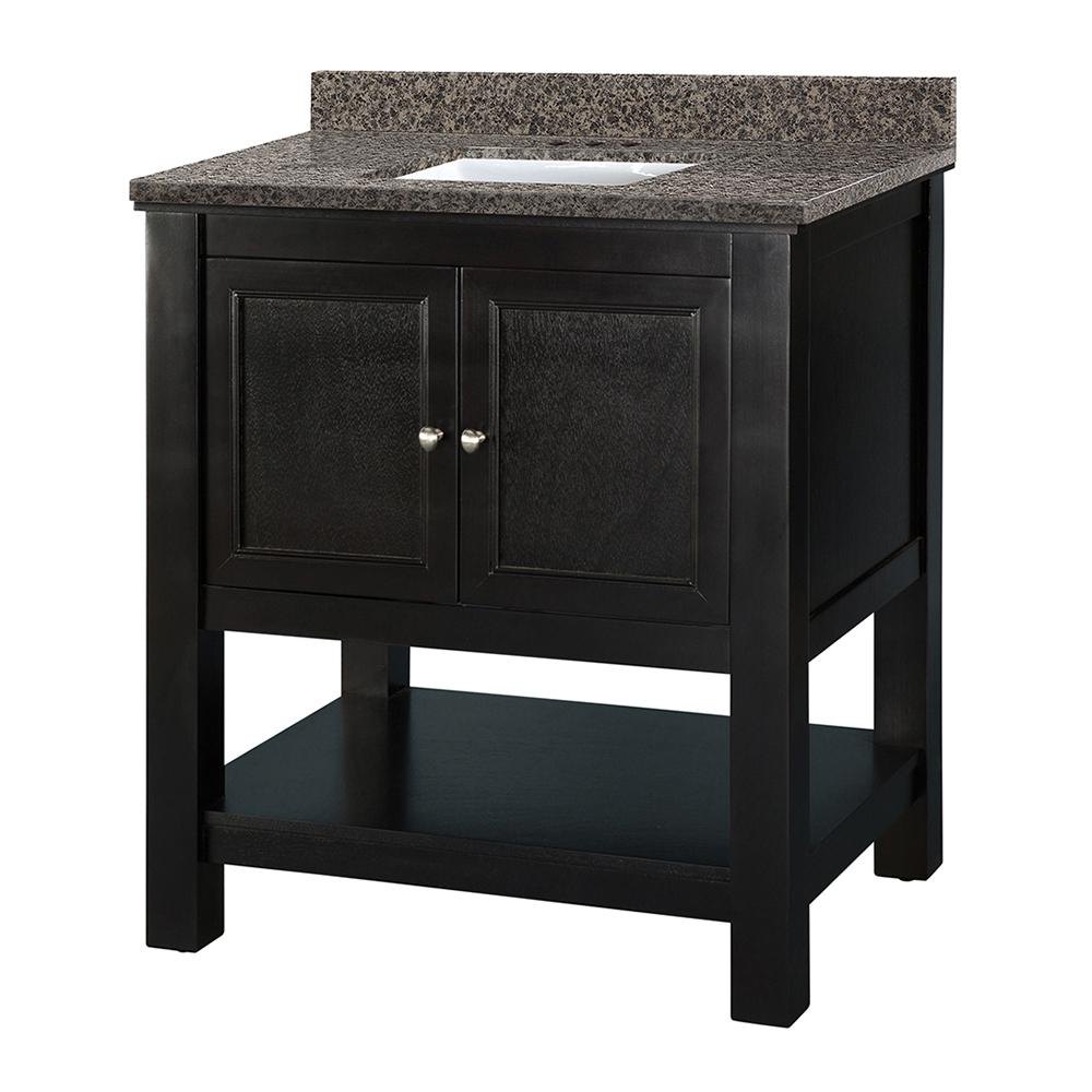 Home Decorators Collection Gazette 31 in. W x 22 in. D Vanity in Espresso with Granite Vanity Top in Sircolo with White Sink was $799.0 now $559.3 (30.0% off)