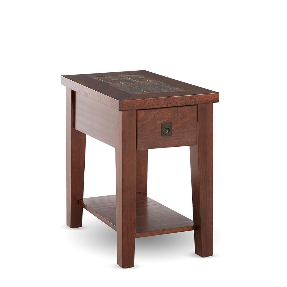 Davenport Brown Cherry Chairside End Table Da200e The Home Depot