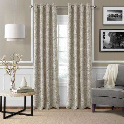 Blackout Julianne Natural Window Curtain Panel