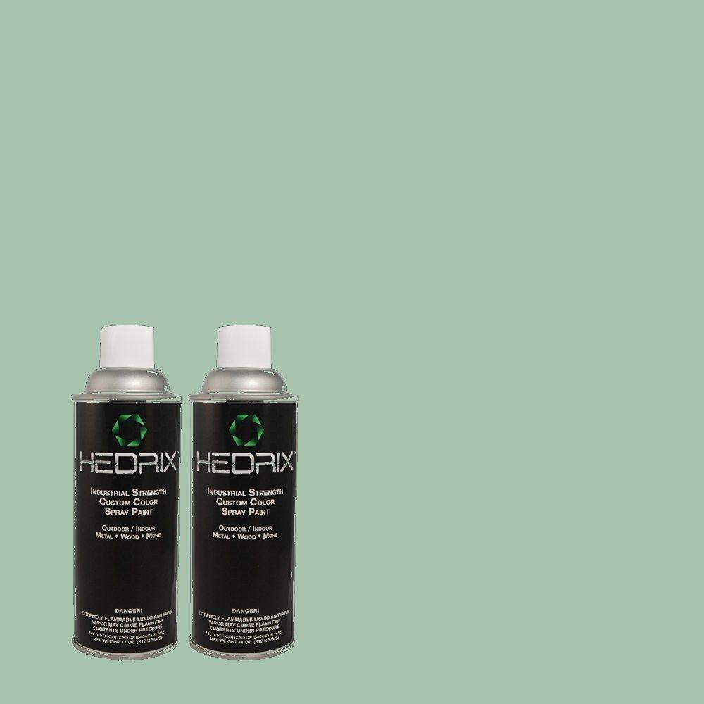 Hedrix 11 oz. Match of PPU12-7 Spring Stream Gloss Custom Spray Paint (8-Pack)