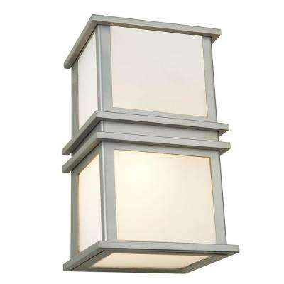 2-Light Brushed Stainless-Steel Sconce