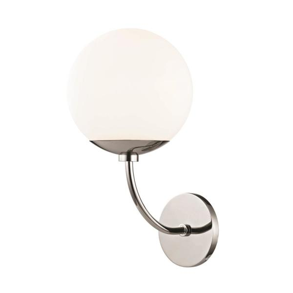 Carrie 1-Light Polished Nickel Wall Sconce