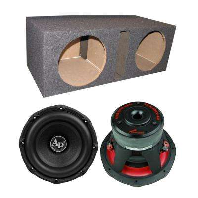 TXX-BD3-12 12 in. 3600-Watt Car Audio Subwoofers (Pair) + Dual Vented Sub Box