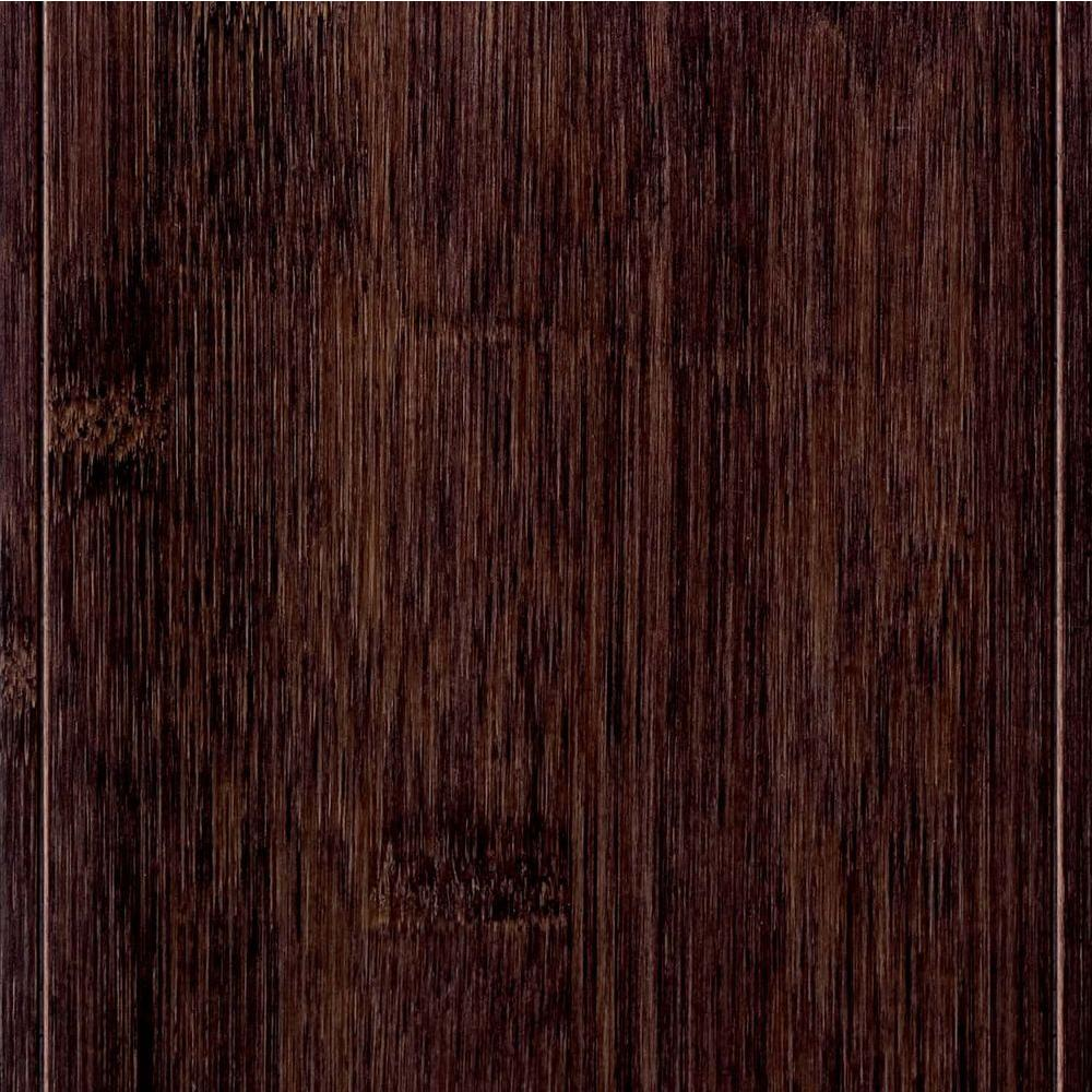 Home Legend Hand Scraped Horizontal Black 9/16inx4-3/4 inx47-1/4 in.LEngineered Bamboo Flooring (24.94 sq. ft. / case)-DISCONTINUED