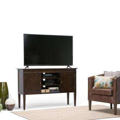Carlton Tobacco Brown 54 in. Tall TV Media Stand