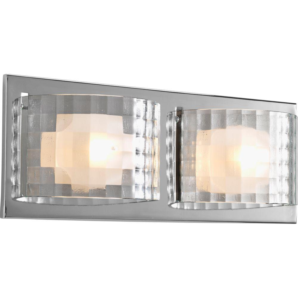 Progress Lighting Cliche Collection 2 Light Polished Chrome Vanity Light