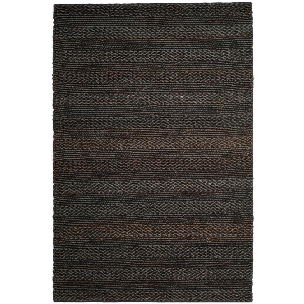 Safavieh Natural Fiber Charcoal 9 ft. x 12 ft. Indoor Area Rug, Grey