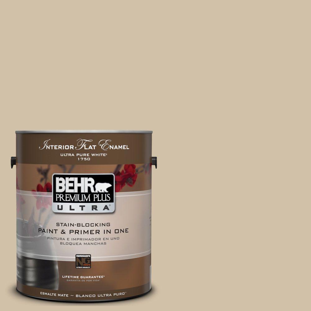 BEHR Premium Plus Ultra 1-Gal. #UL160-17 Baja Interior Flat Enamel Paint