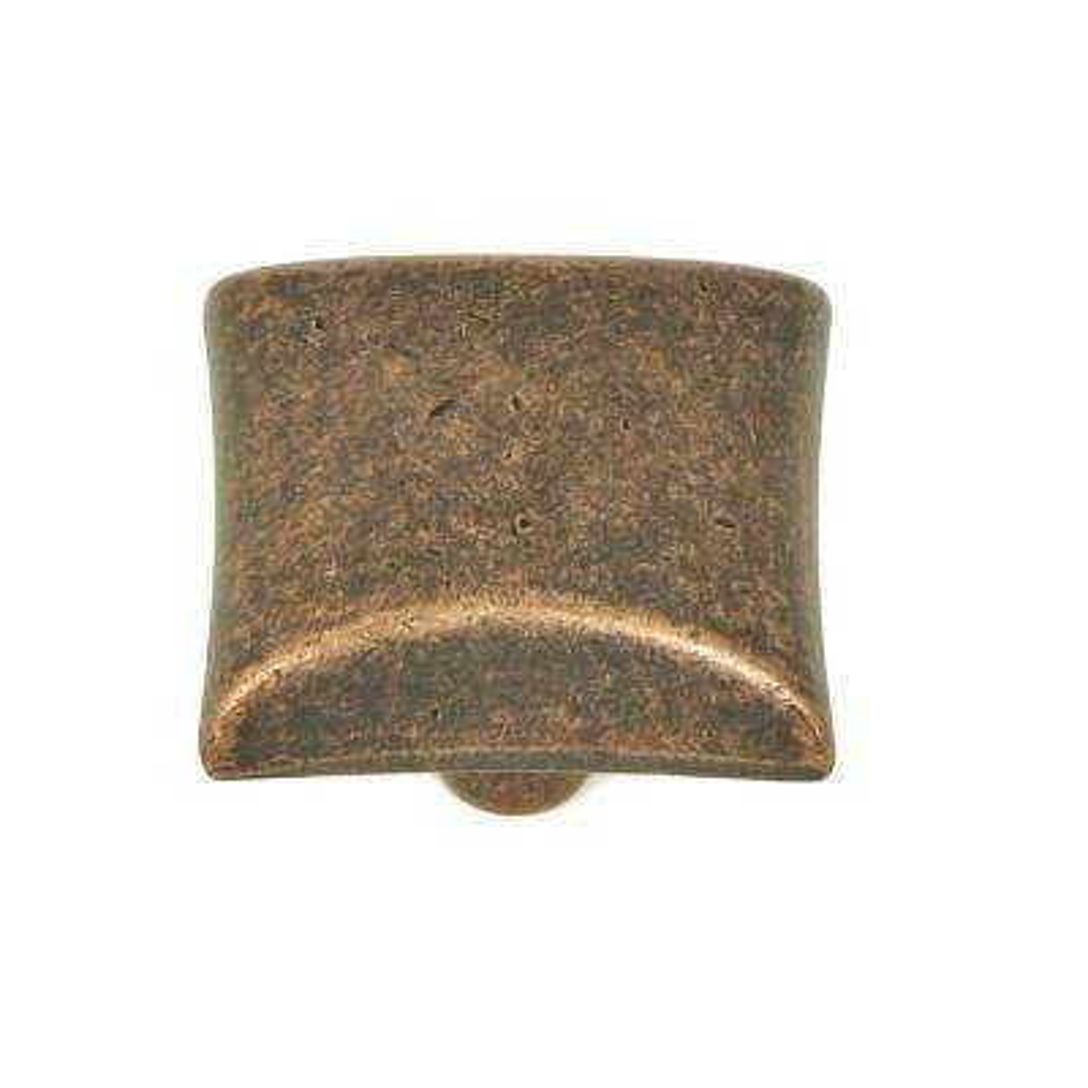 Bella 1-1/8 in. Antique Copper Square Cabinet Knob (10-Pack)
