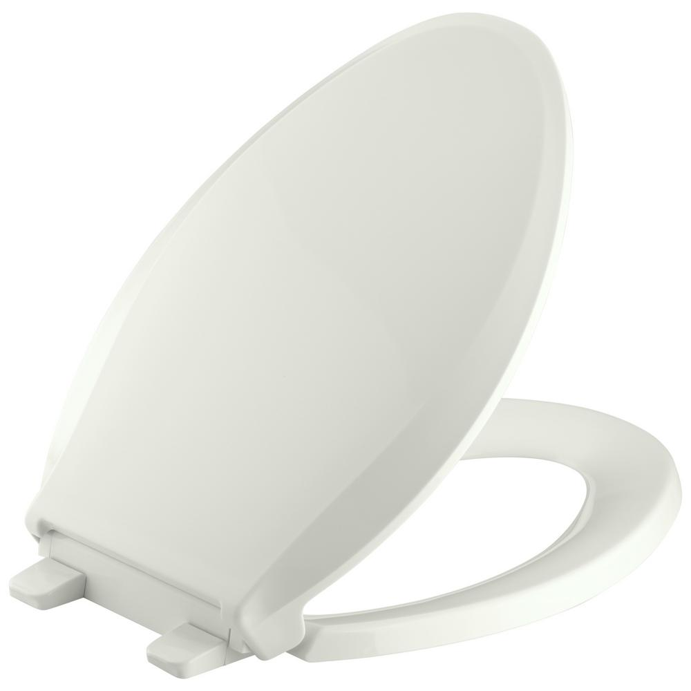 KOHLER Grip-Tight Cachet Elongated Closed Front Toilet Seat in Dune ...