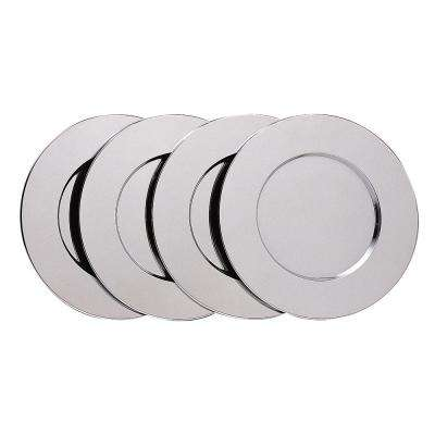 13 in. Chrome Plated Charger Plate (Set of 4)