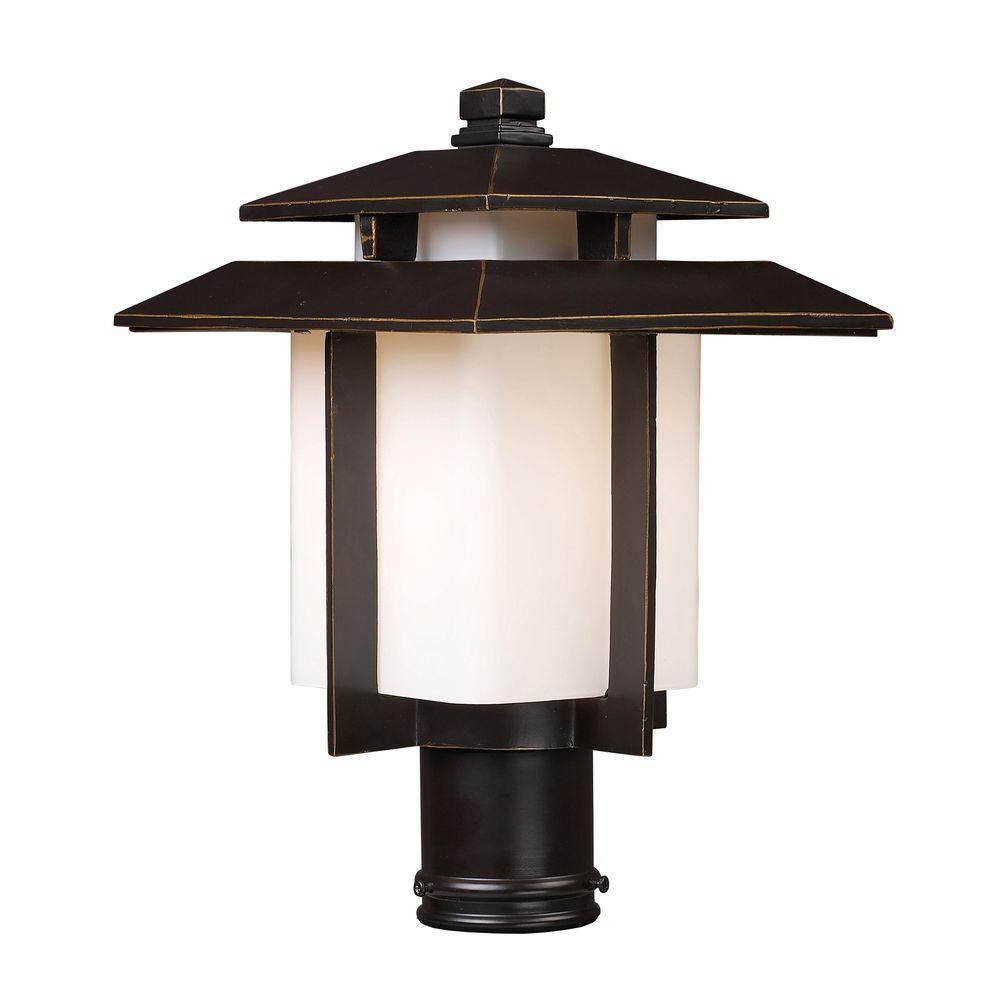 Kanso 1-Light Outdoor Hazelnut Bronze Pier Mount Light  sc 1 st  Home Depot & Pier Mount Lights - Outdoor Lighting Accessories - Outdoor Lighting ...