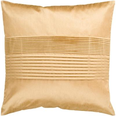 Virgili Mustard Solid Polyester 18 in. x 18 in. Throw Pillow