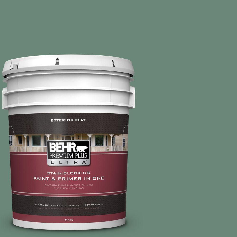 BEHR Premium Plus Ultra 5-gal. #S420-5 Sycamore Grove Flat Exterior Paint