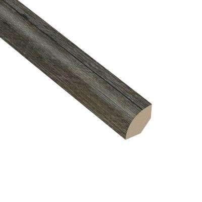 Oak Graphite 5/8 in. Thick x 1 in. Wide x 94-1/2 in. Length Vinyl Quarter Round Molding