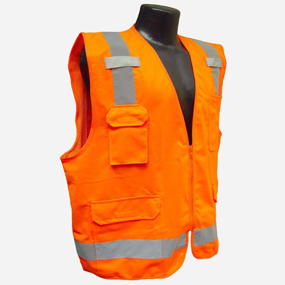 Radians Surveyor Vest Orange 5X, Size: 5XL, Oranges/Peaches