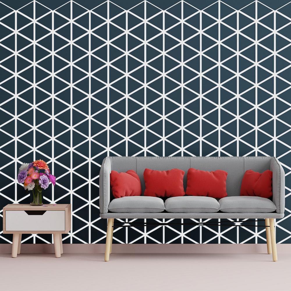 Ekena Millwork 3/8 in. x 15-3/4 in. x 18-1/4 in. Medium Pendleton White Architectural Grade PVC Decorative Wall Panels